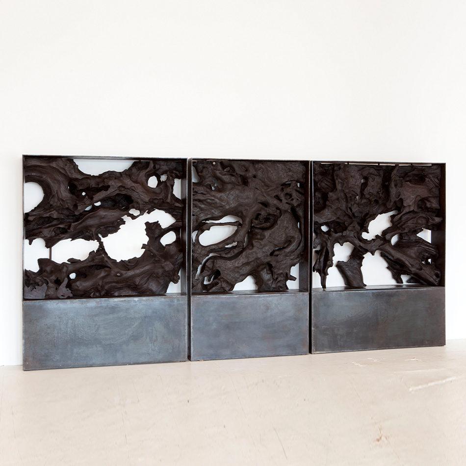 Jerome Abel Seguin - Triptych on Iron Bases