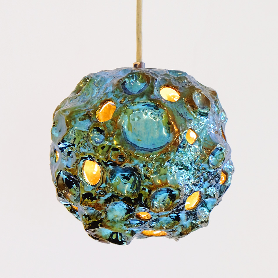 Julia Kunin - Luster Blue Moon Lamp