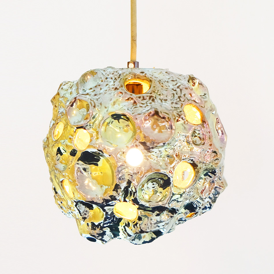 Julia Kunin - Luster Green Moon Lamp