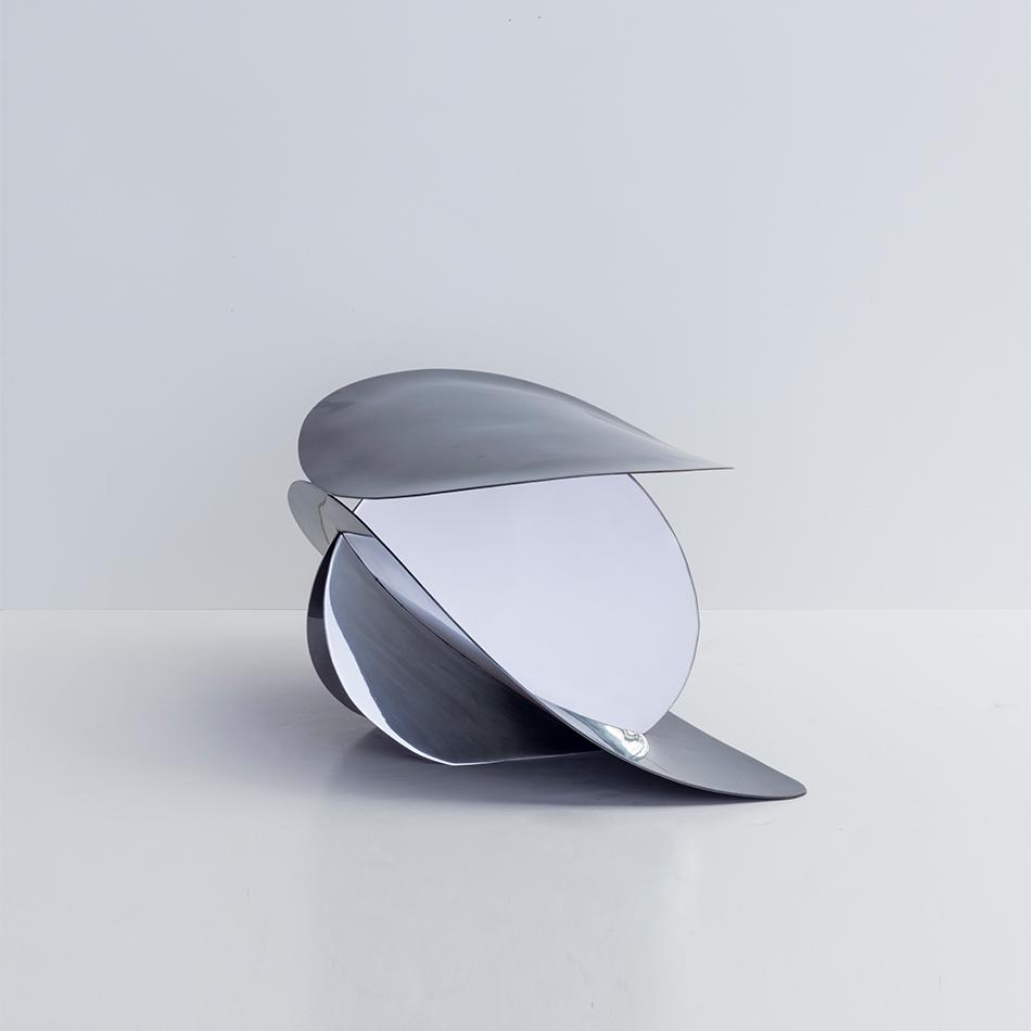 Nina Seirafi - Lale Stool, Stainless Steel