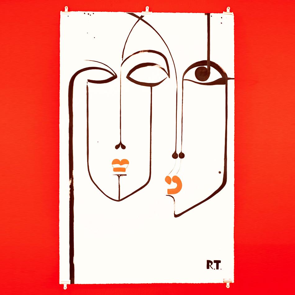Ruben Toledo- Acrylic On Paper