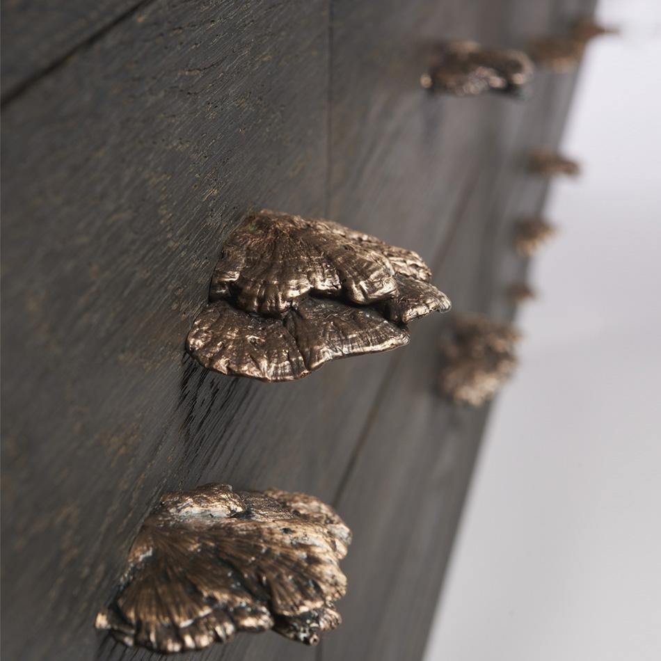 Chris Lehrecke / Gabriella Kiss - Acid ebonized white oak dresser w/ bronze mushroom