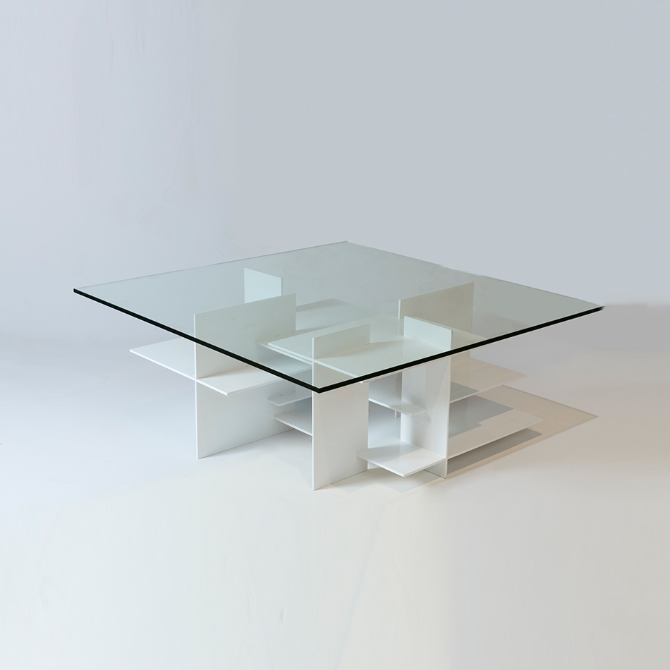 Fran Taubman - Aluminum Plate Coffee Table