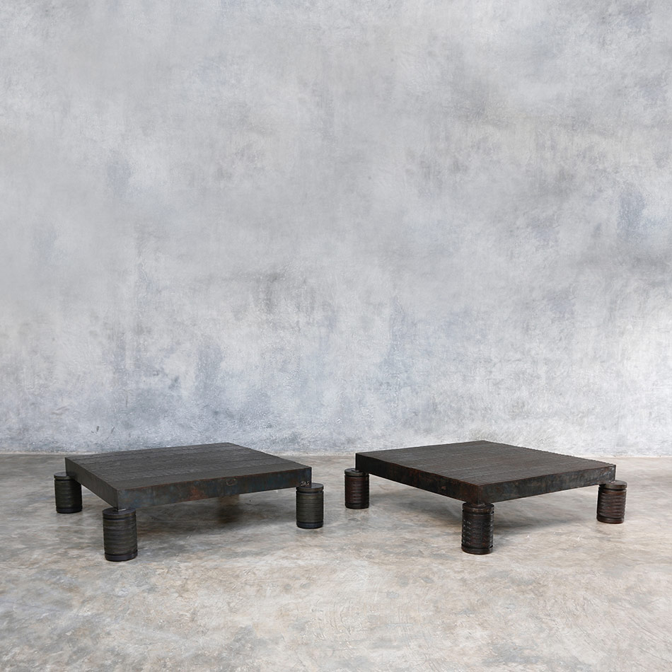 Jerome Abel Seguin - Square Iron Coffee Tables