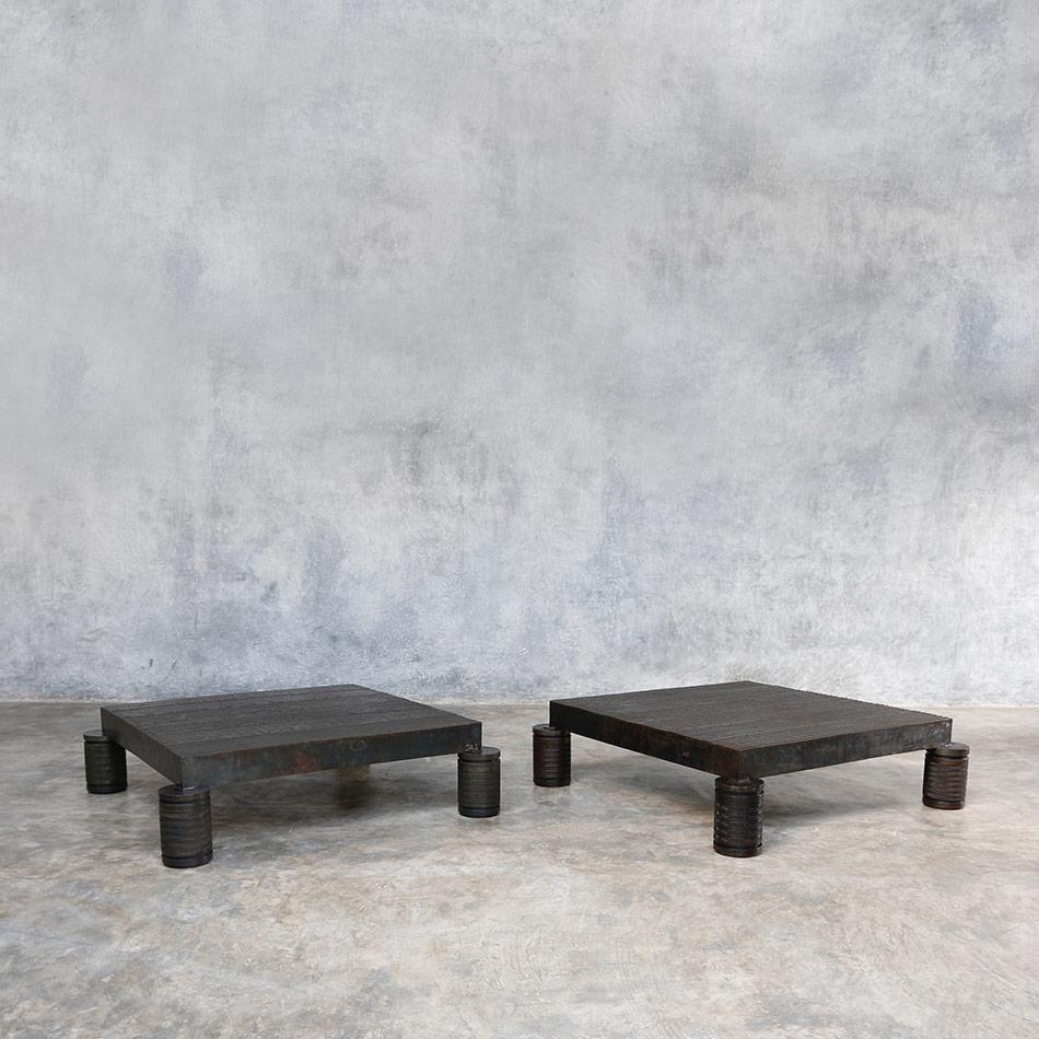 Jerome Abel Seguin - Square Iron Coffee Tables