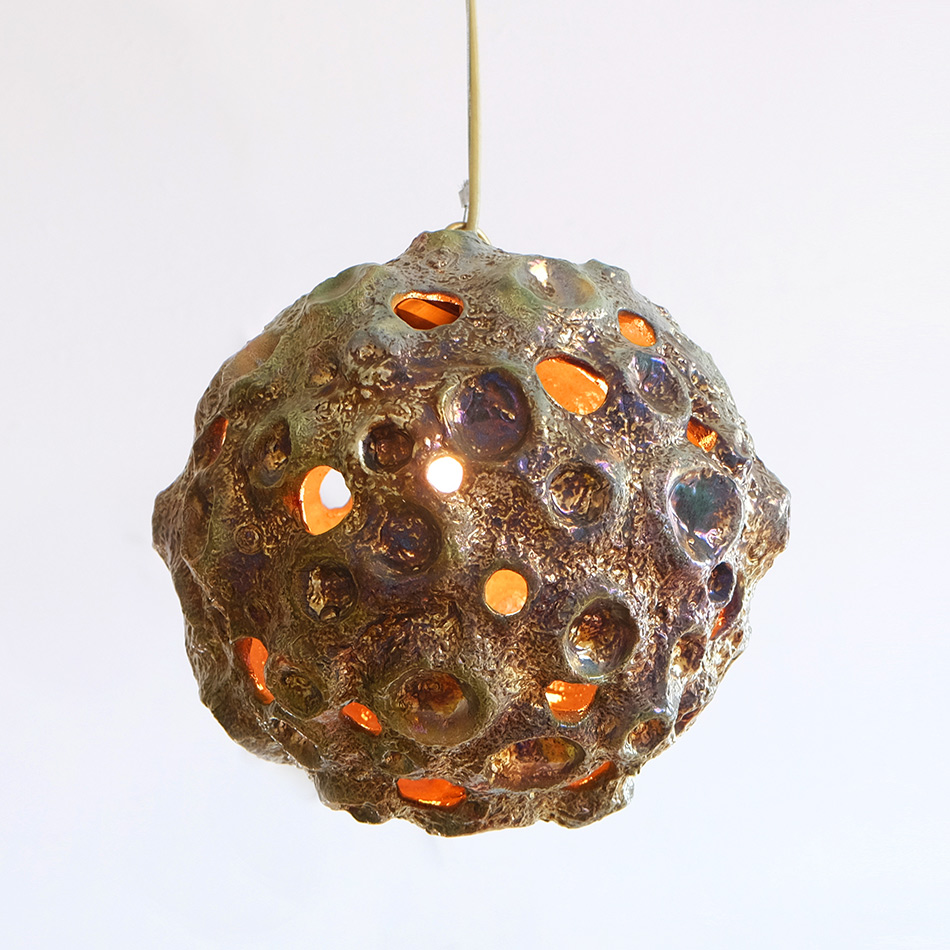 Julia Kunin - Matt Luster Green Moon Lamp