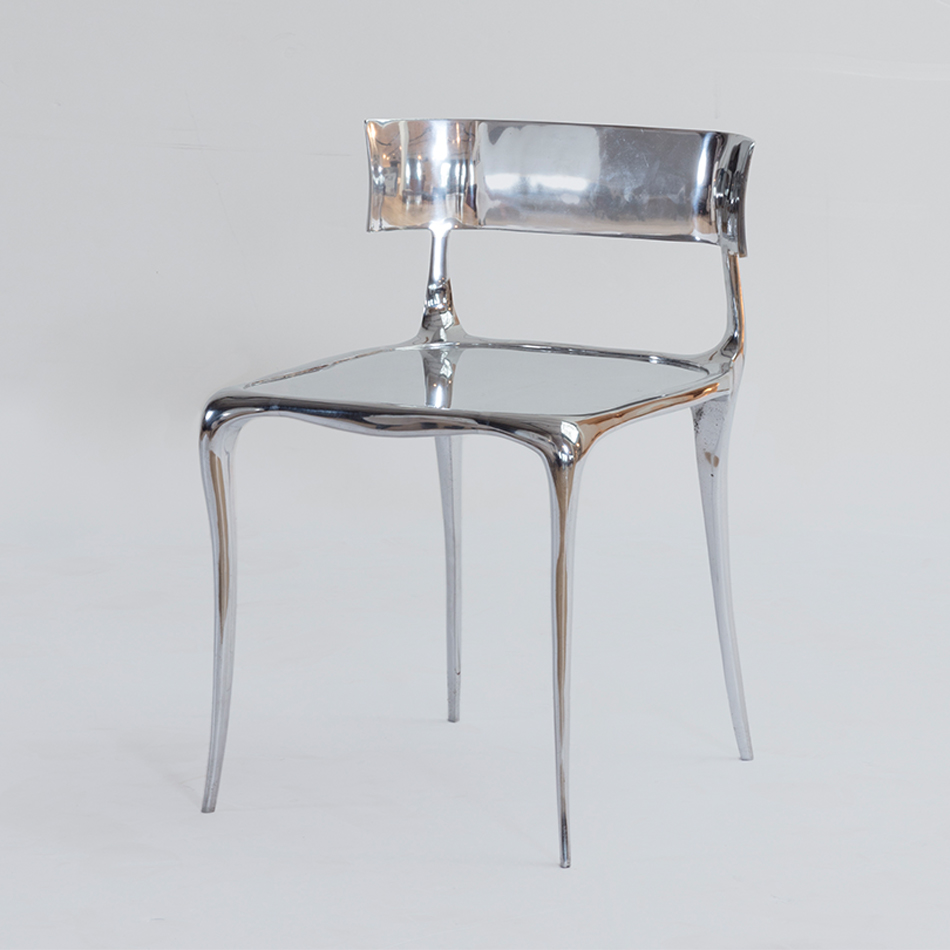 Paul Mathieu - Aria Chair in Polished Metal