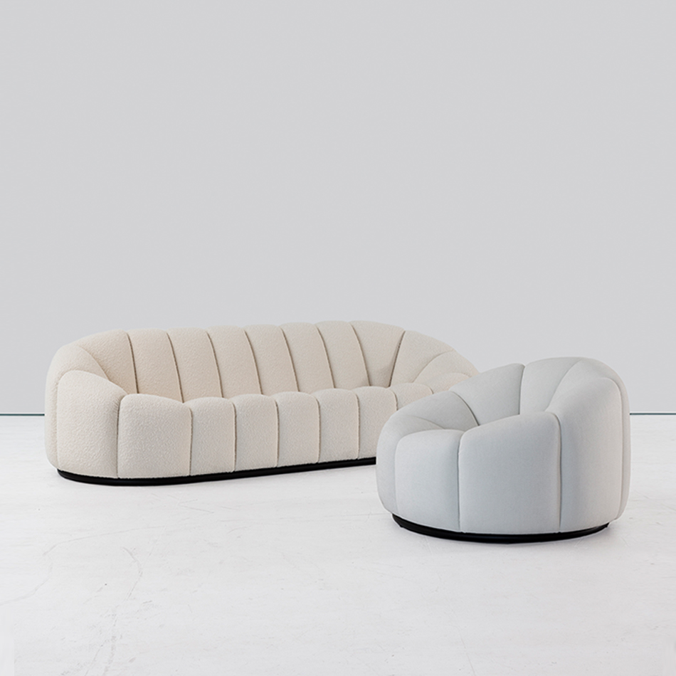 Pierre Paulin - Alpha Sofa and Alpha Club Chair