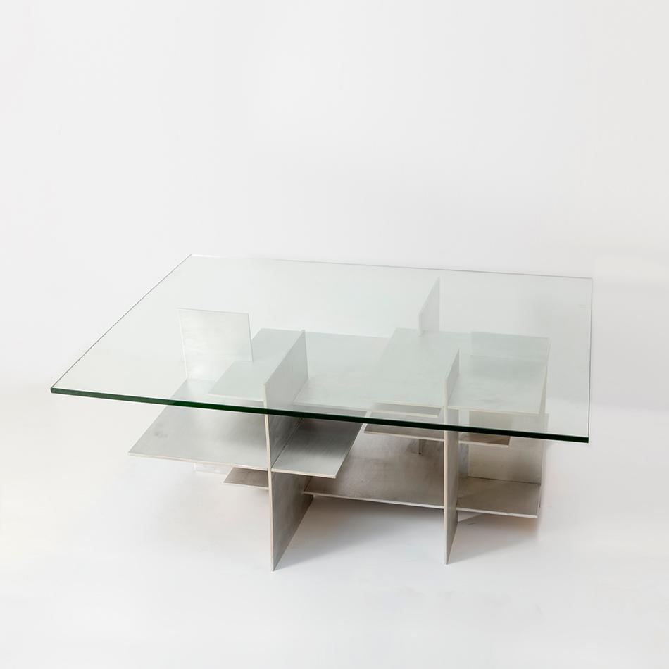 Fran Taubman - Aluminum Plate Coffee Table