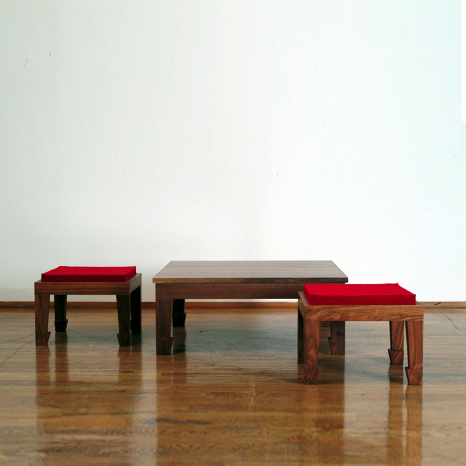 Chris Lehrecke - Chinese Coffee Table and Stool