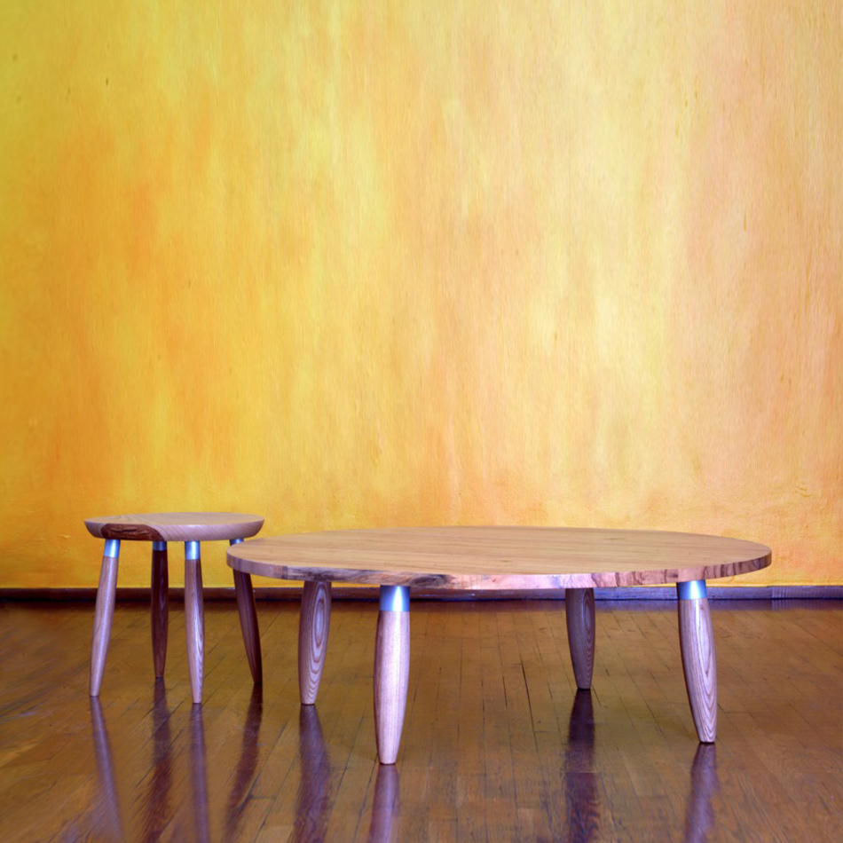 Chris Lehrecke - Circle Coffee Table & Stool