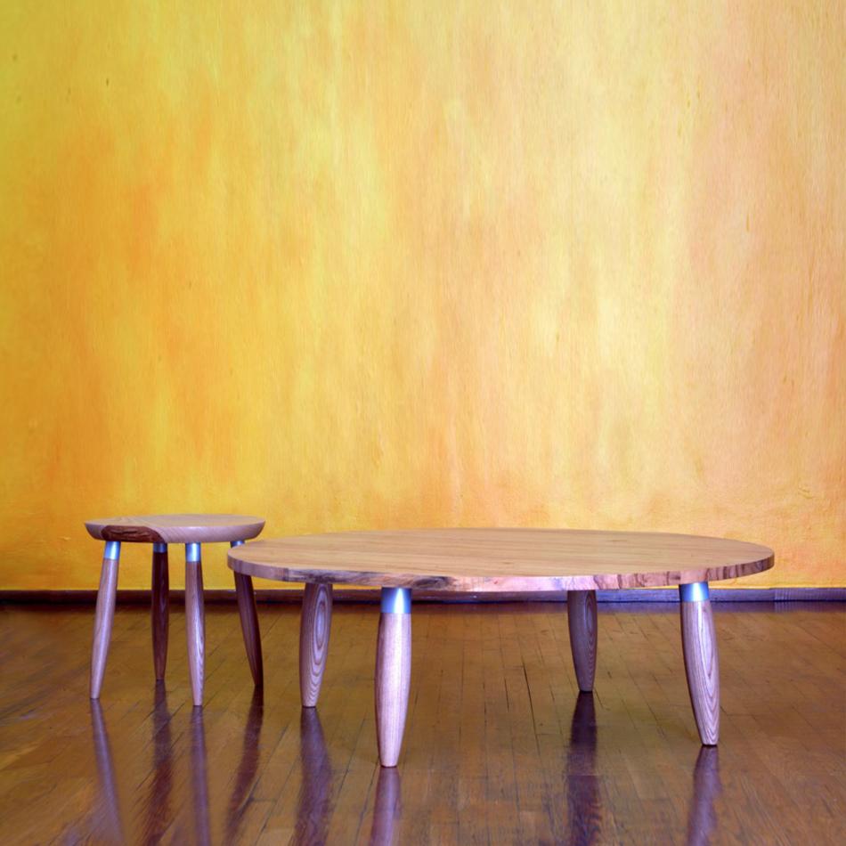 Chris Lehrecke - Circle Coffee Table & Stool