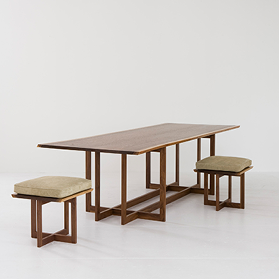 Chris Lehrecke - Grid Dining Table & Stools