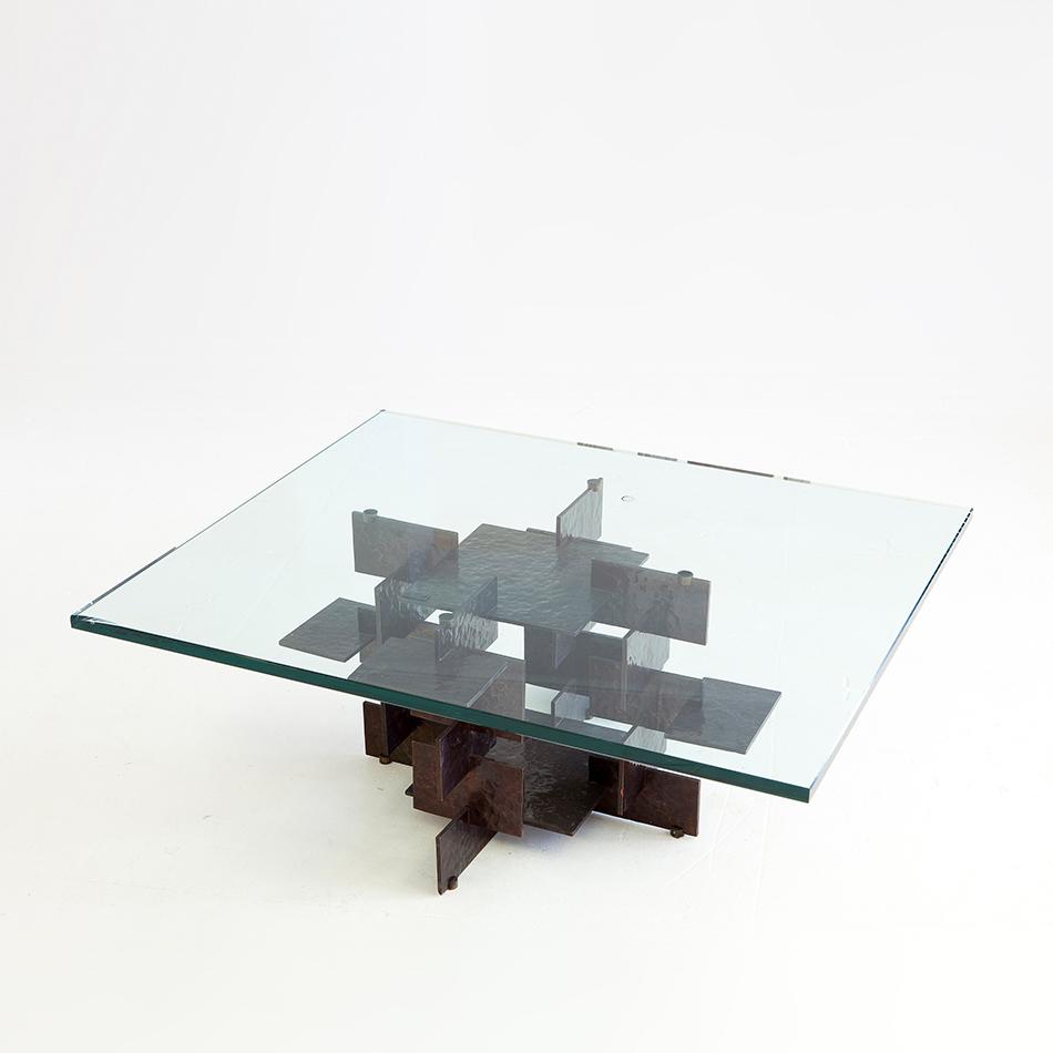 Fran Taubman - Blackened Bronze Plate Coffee Table