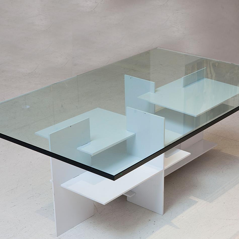 Fran Taubman - Aluminum Rectangle Plate Coffee Table
