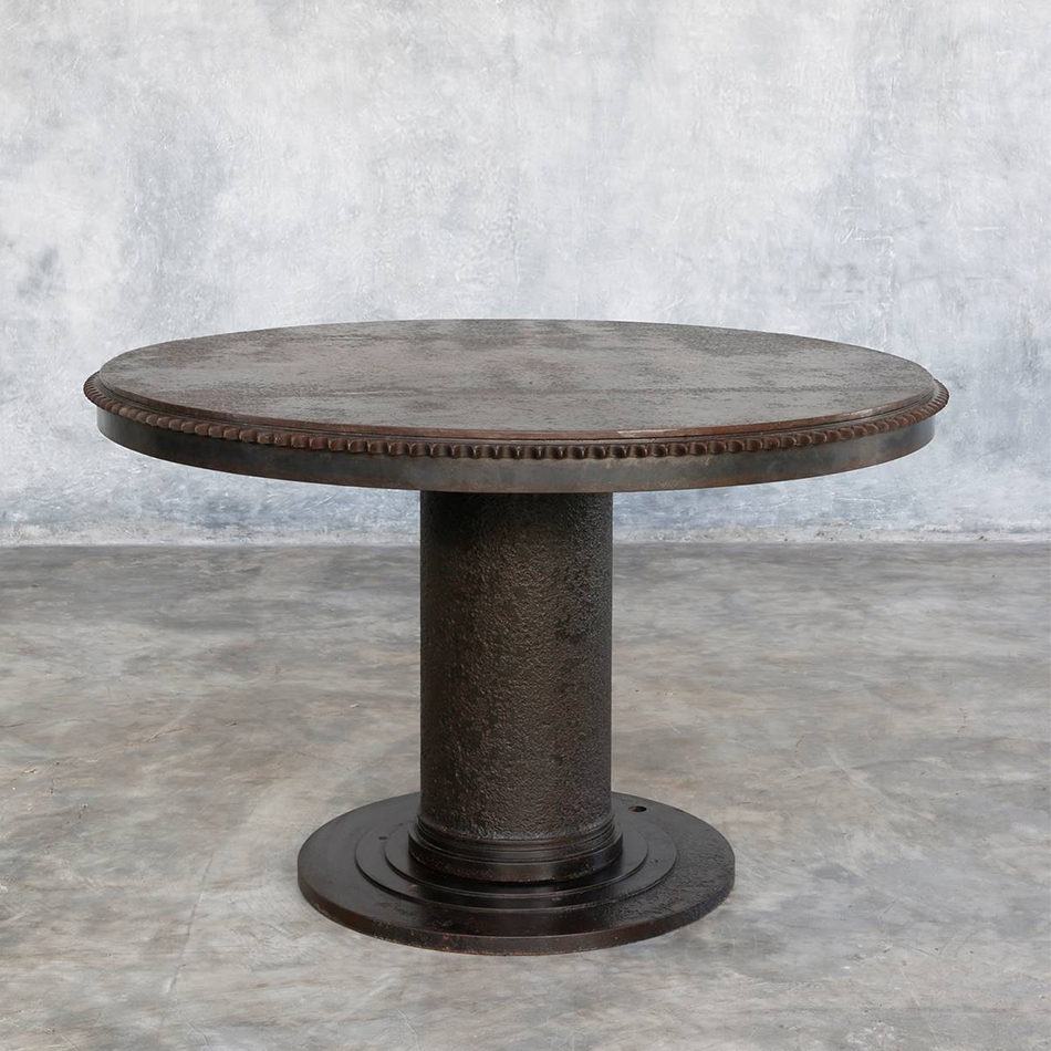 Jerome Abel Seguin - Round Iron Dining Table