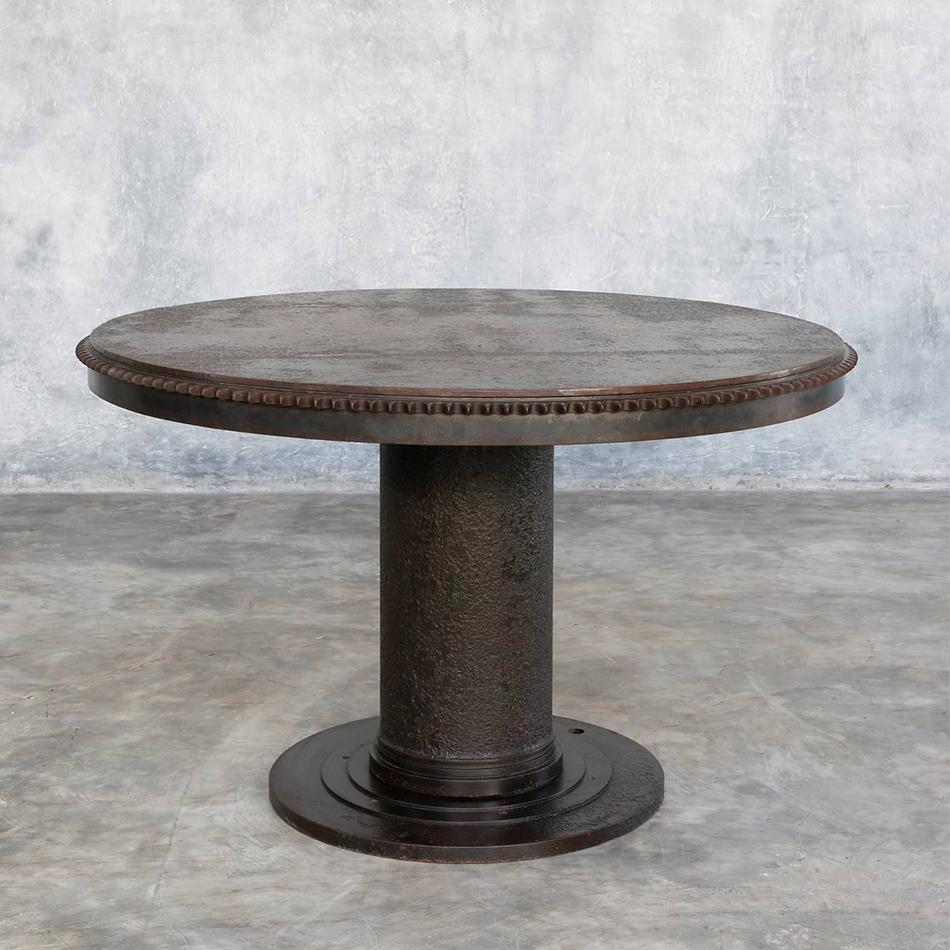 Jerome Abel Seguin - Round Iron Dining Table