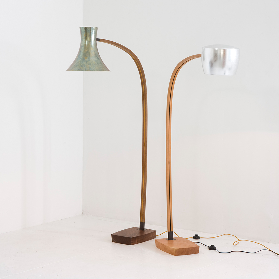 Chris Lehrecke - Spun Floor Lamp 1 and Lamp 2