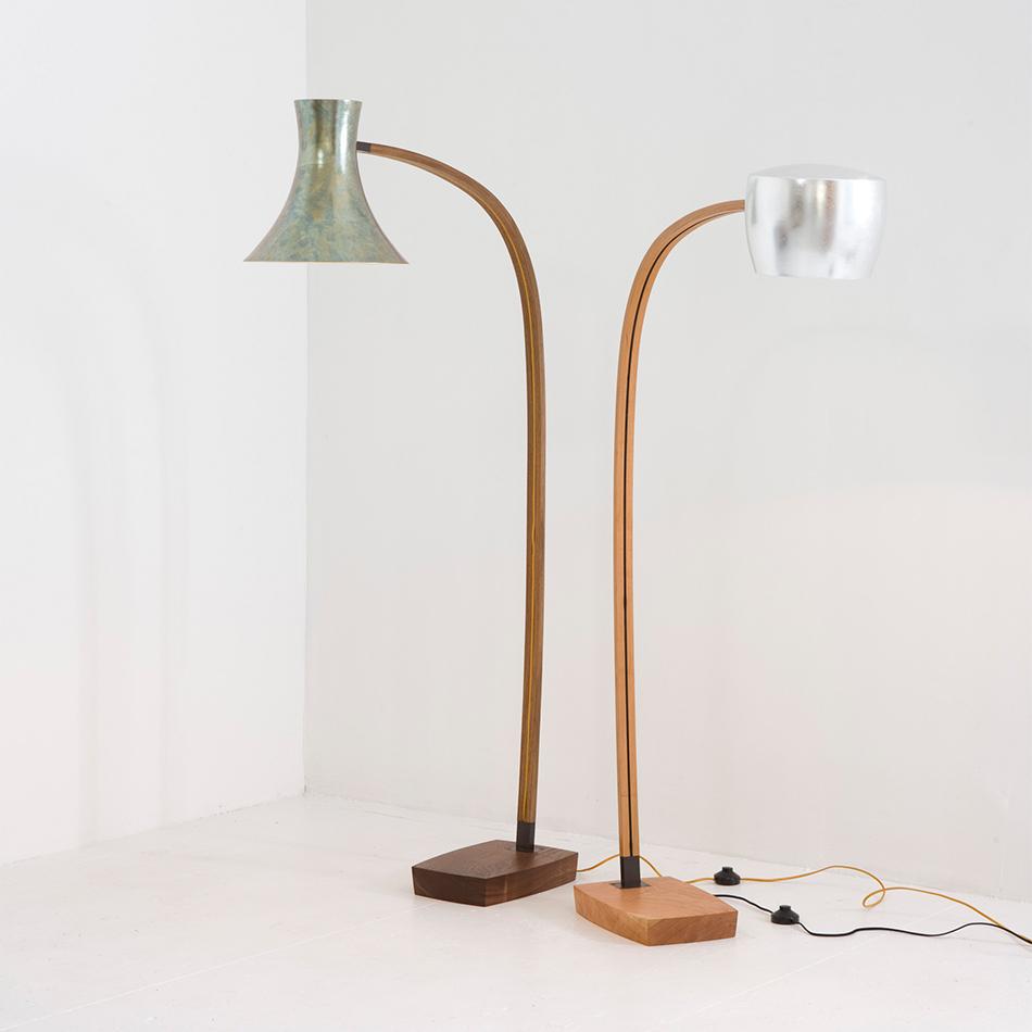 Chris Lehrecke - Spun Floor Lamp 1 and Lamp 2