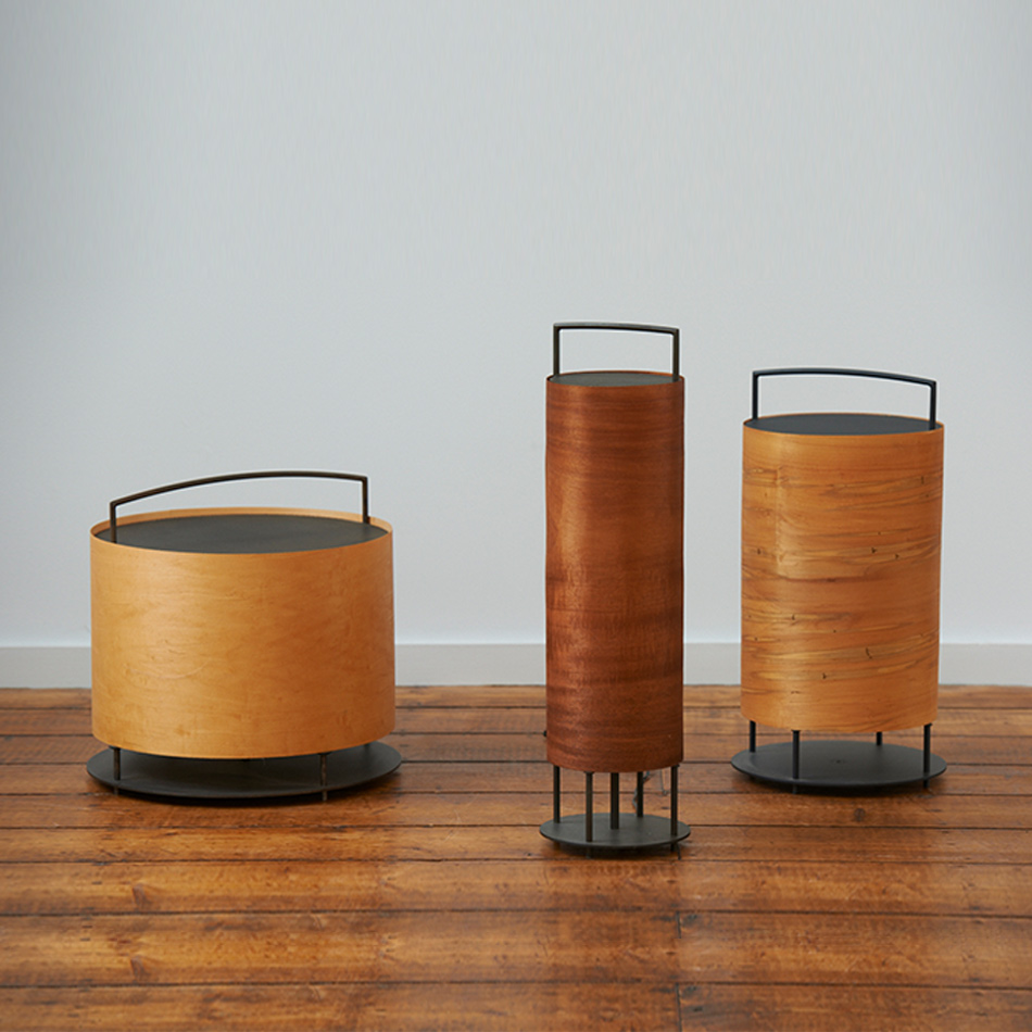 Chris Lehrecke - Lantern with Veneer Wood Shades