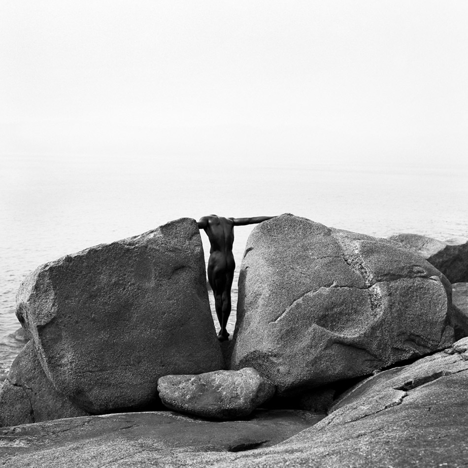 Laurent Elie Badessi - Male Nude With Rock 2