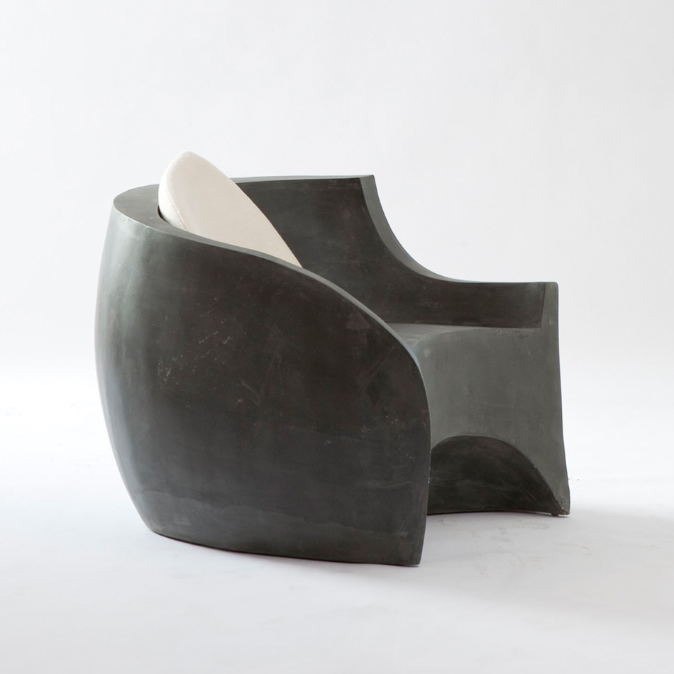 Vladimir Kagan - Gray Foundry Chair w/cushion
