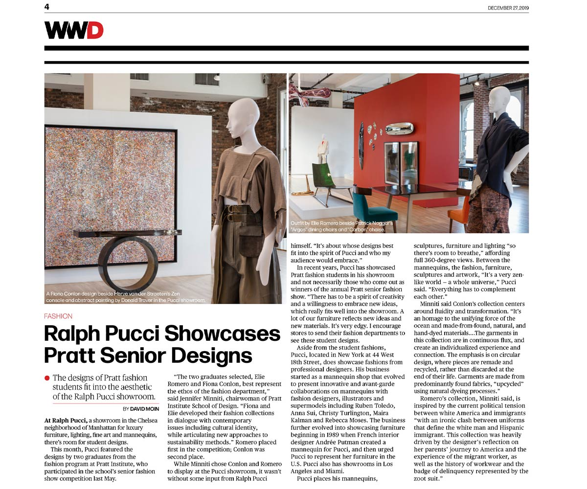 Women's Wear Daily - WWD - Ralph Pucci - Pratt Senior Designs - David Moin - Dec 26, 2019