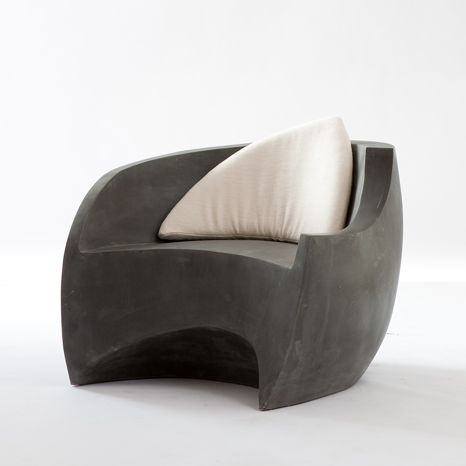 Vladimir Kagan - Gray Foundry Chair w/cushion