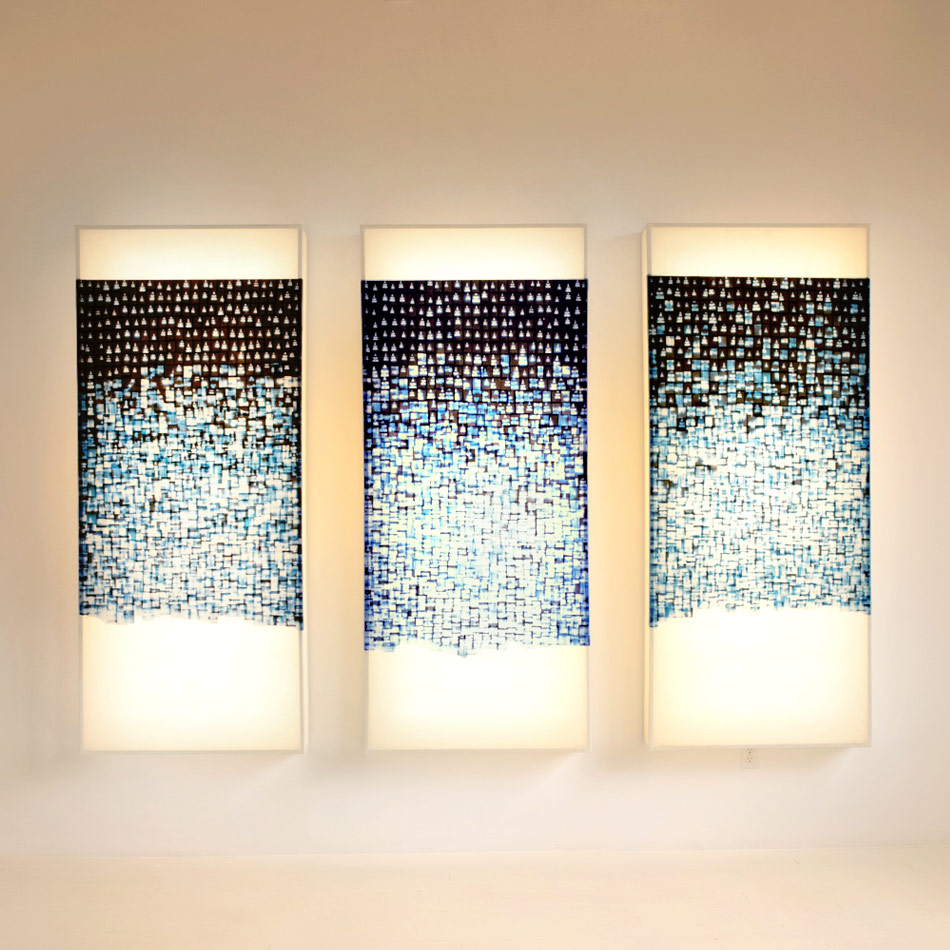 John Wigmore - Light Sculpture 56 Empire Triptych