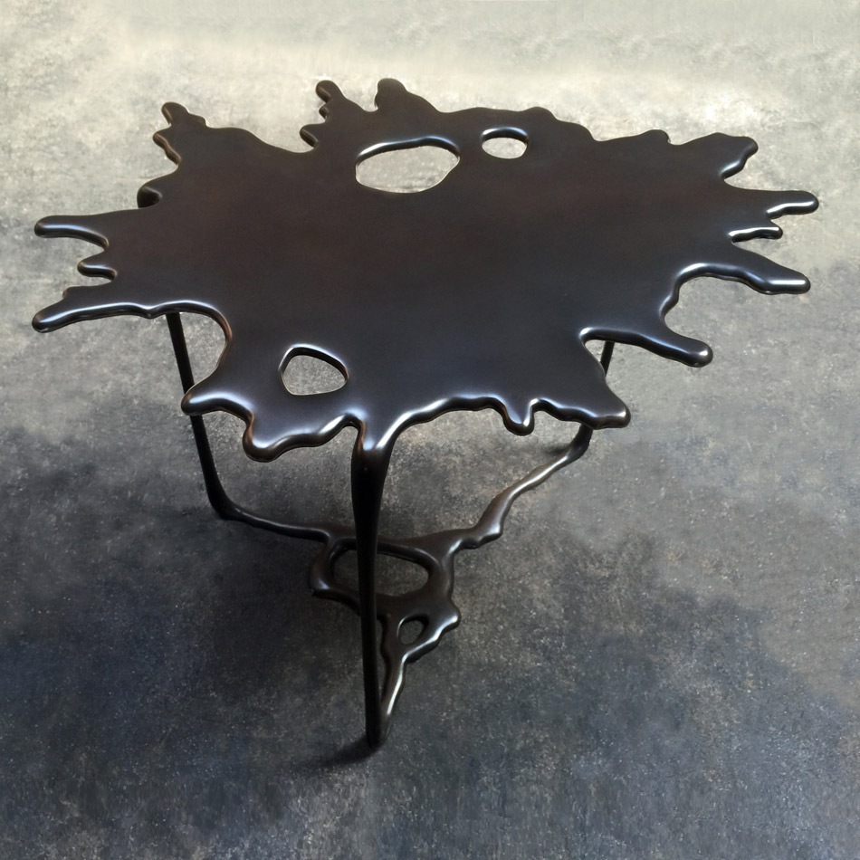 Stefan Bishop - Puddle #1 Side Table Dark