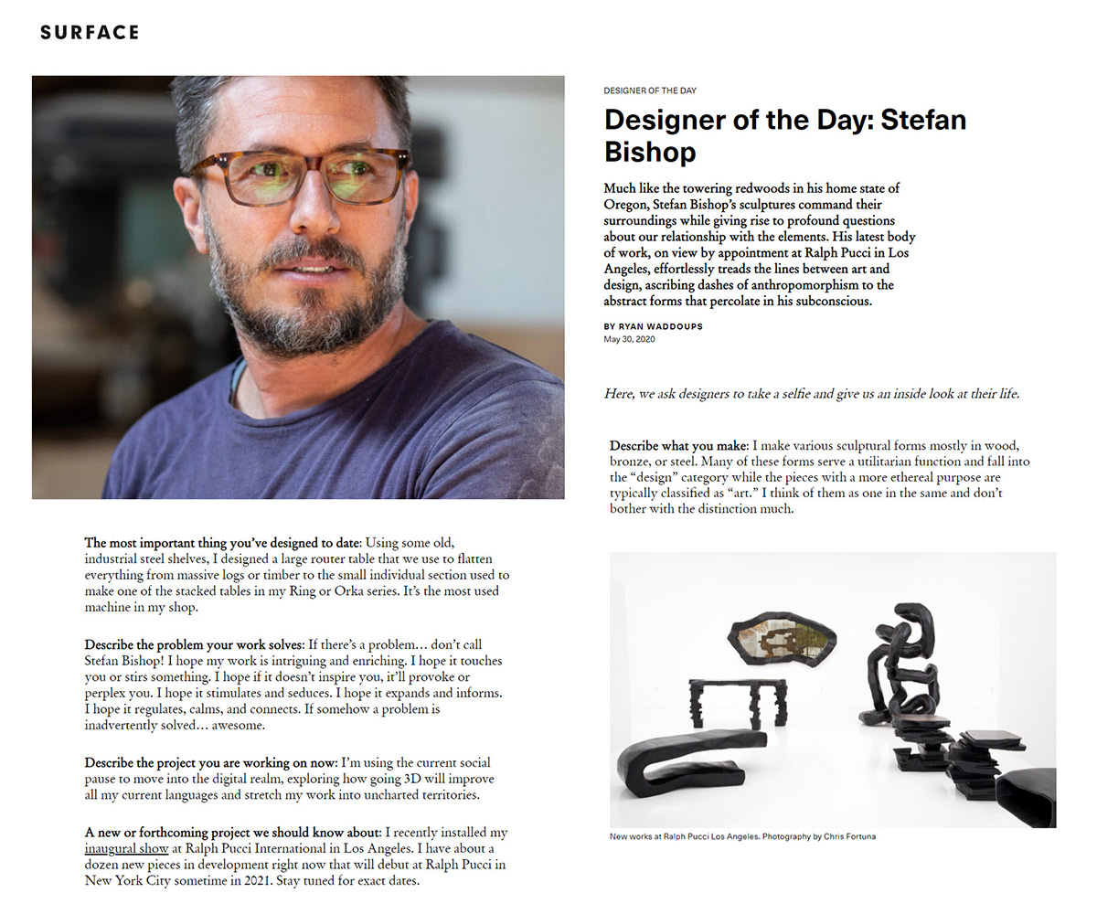 Surface Magazine - Stefan Bishop
